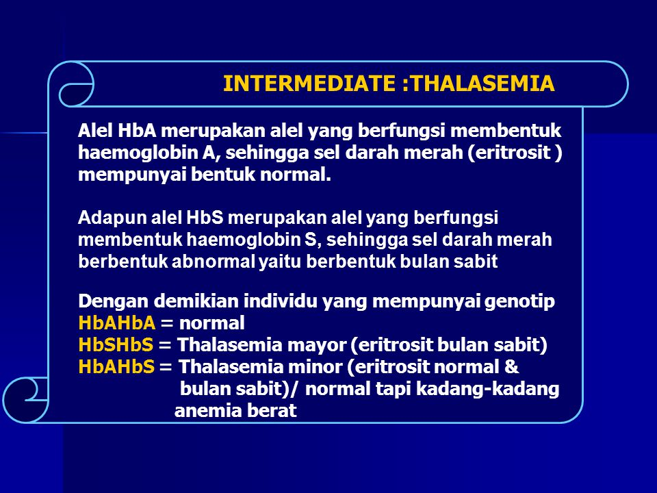 INTERMEDIATE :THALASEMIA