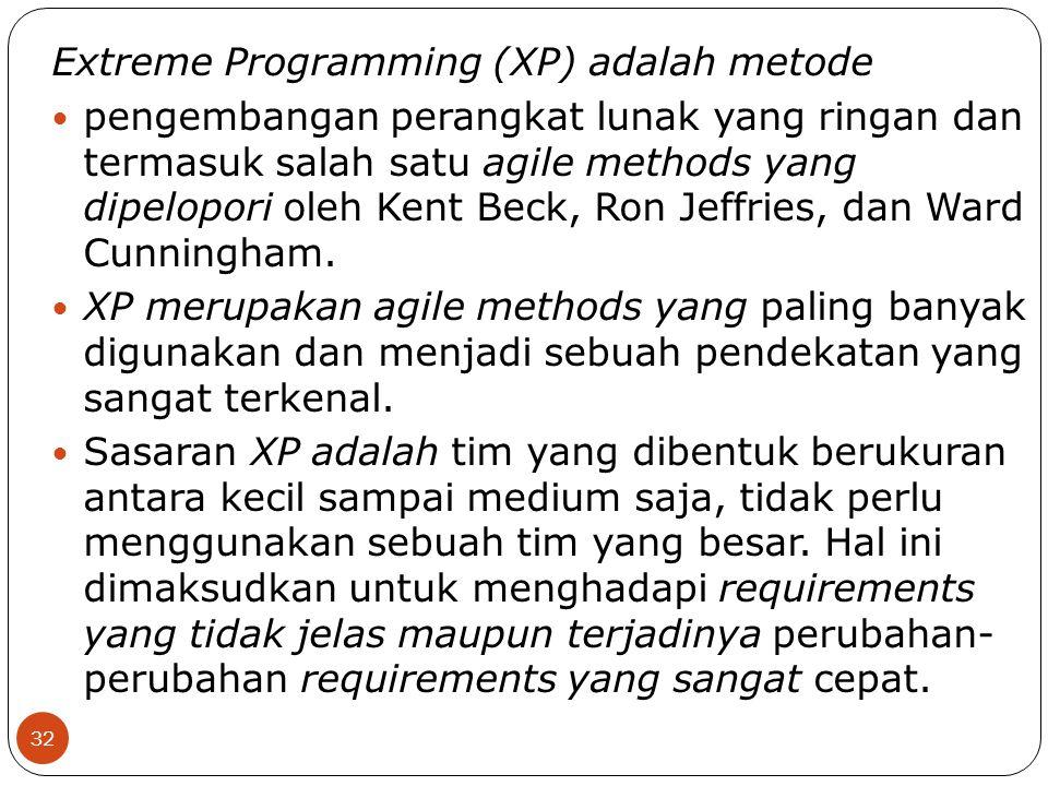 Extreme Programming (XP) adalah metode
