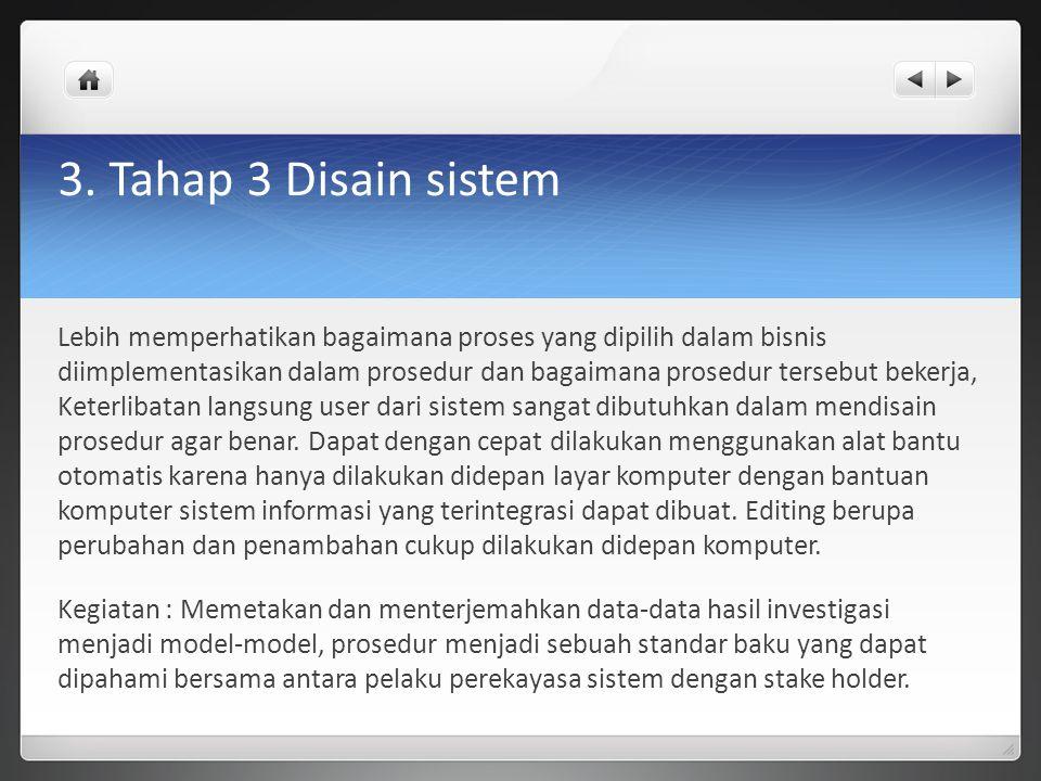 3. Tahap 3 Disain sistem