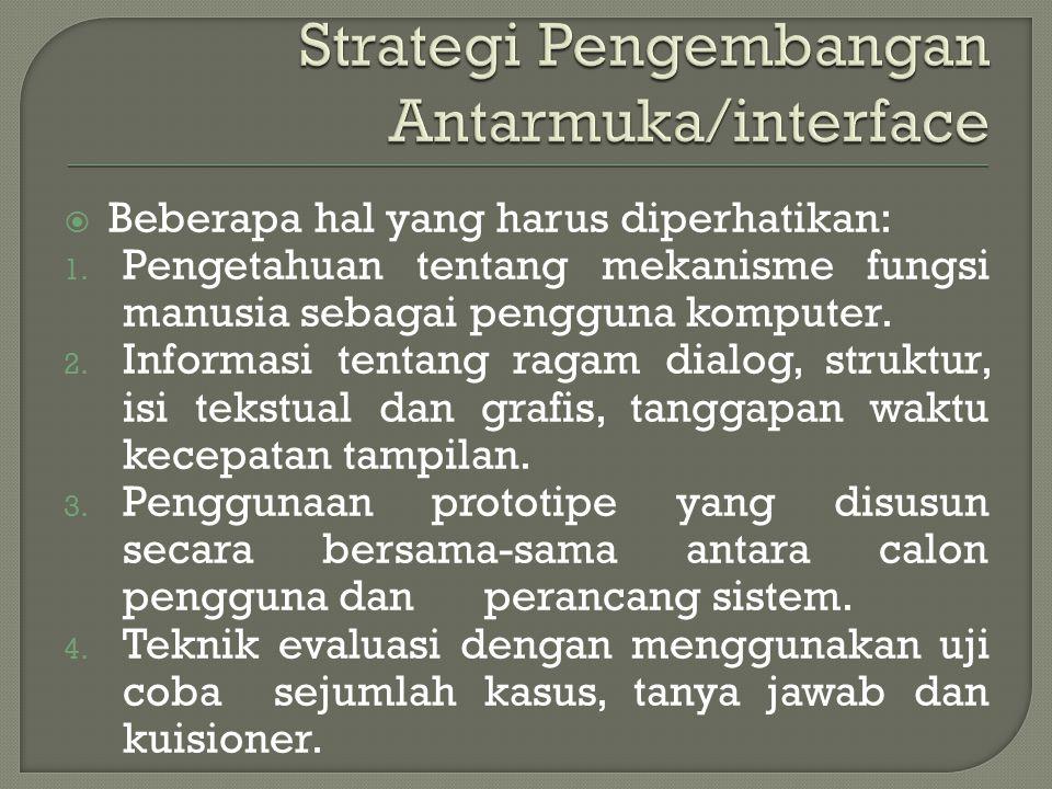 Strategi Pengembangan Antarmuka/interface