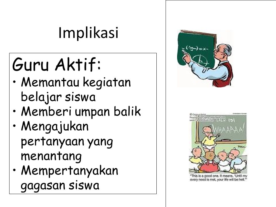 Implikasi Guru Aktif: Memantau kegiatan belajar siswa