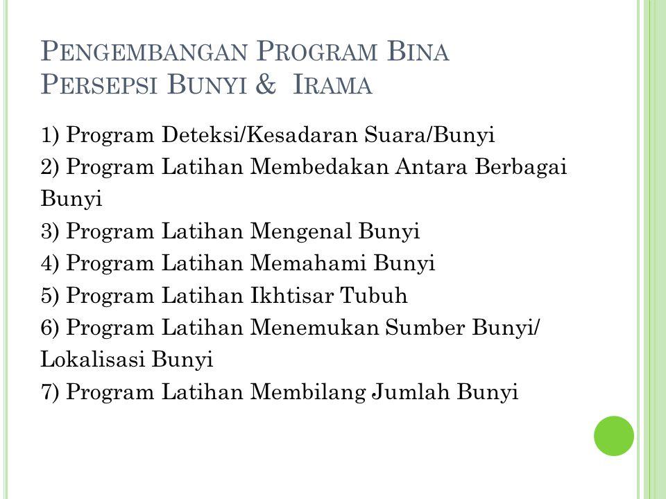 Pengembangan Program Bina Persepsi Bunyi & Irama