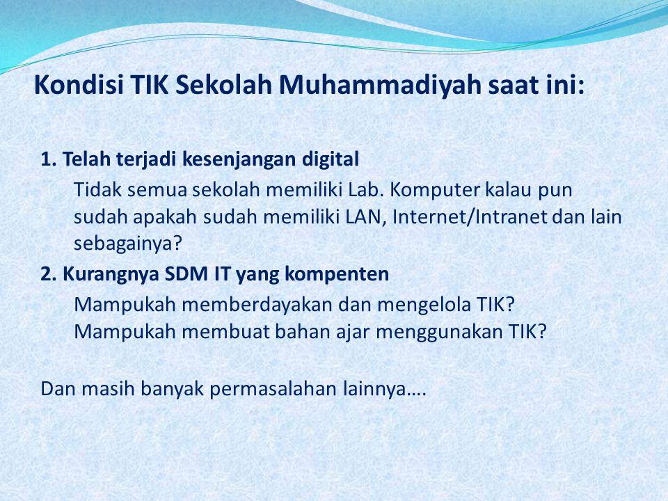 Kondisi TIK Sekolah Muhammadiyah saat ini: