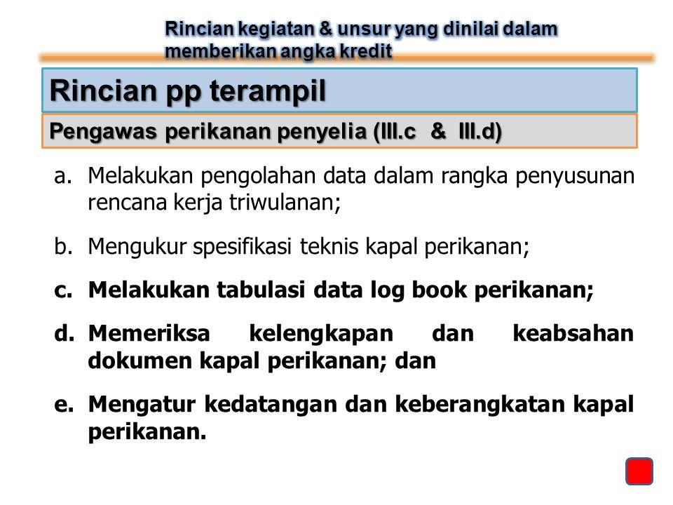 Rincian pp terampil Pengawas perikanan penyelia (III.c & III.d)