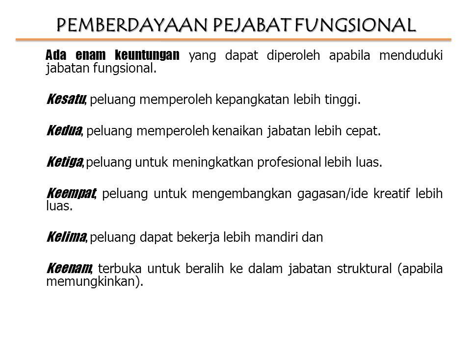 PEMBERDAYAAN PEJABAT FUNGSIONAL