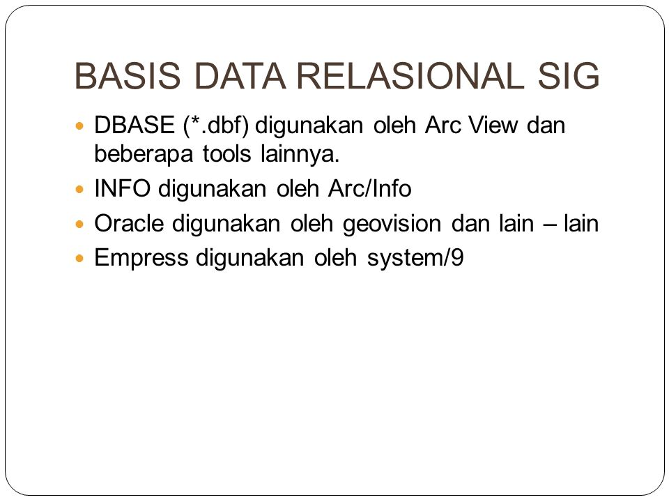 BASIS DATA RELASIONAL SIG