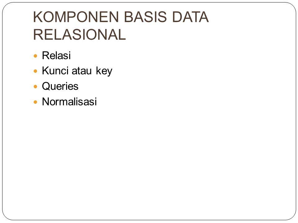 KOMPONEN BASIS DATA RELASIONAL