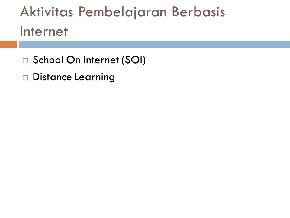 Aktivitas Pembelajaran Berbasis Internet