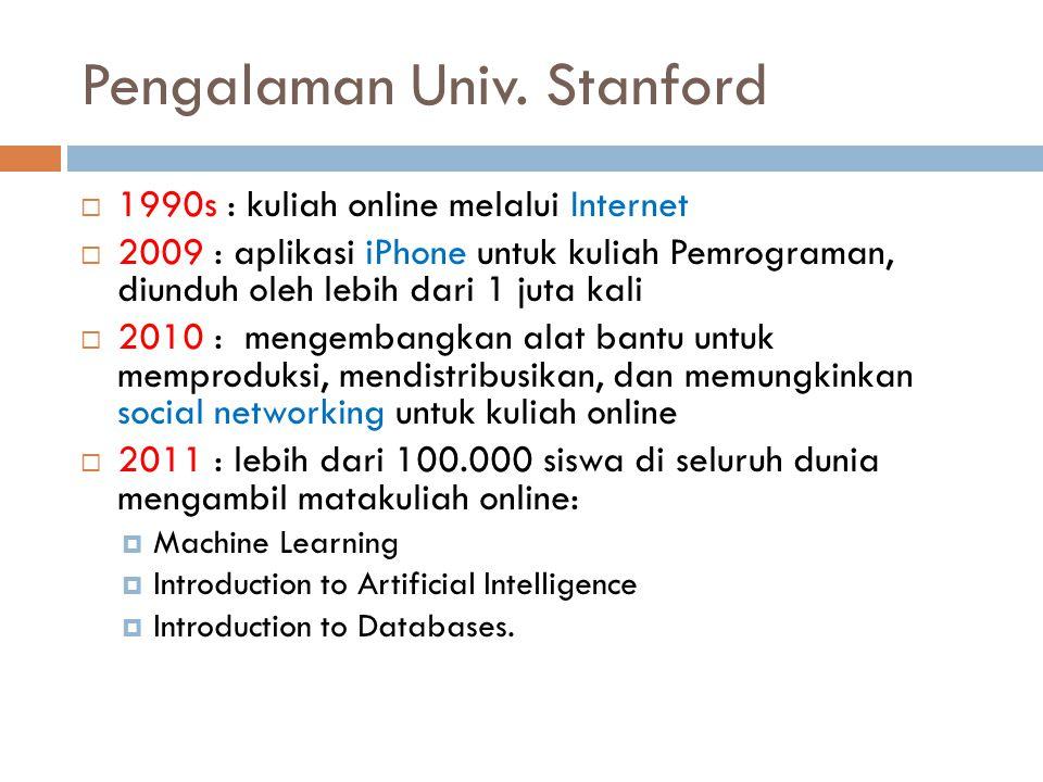 Pengalaman Univ. Stanford
