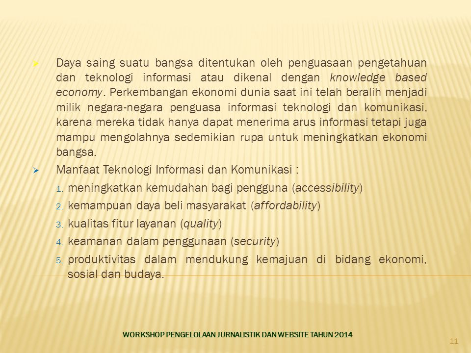 Manfaat Teknologi Informasi dan Komunikasi