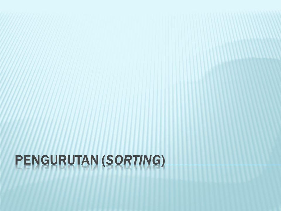 PENGURUTAN (SORTING)