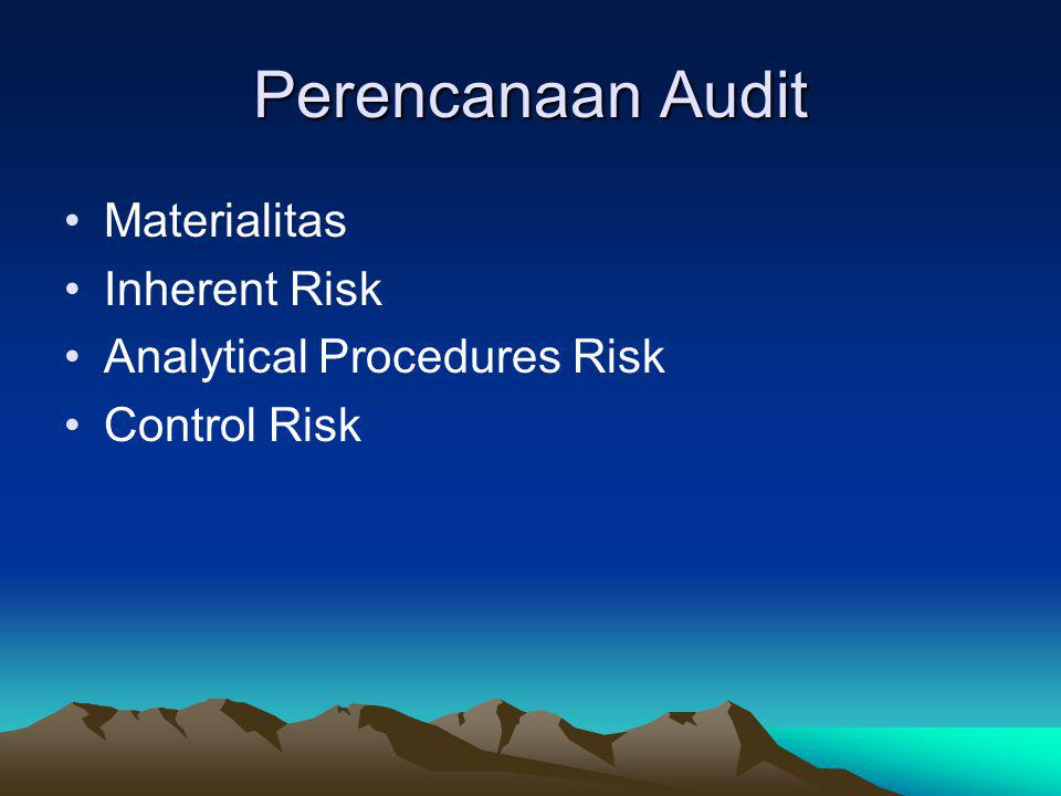 Perencanaan Audit Materialitas Inherent Risk