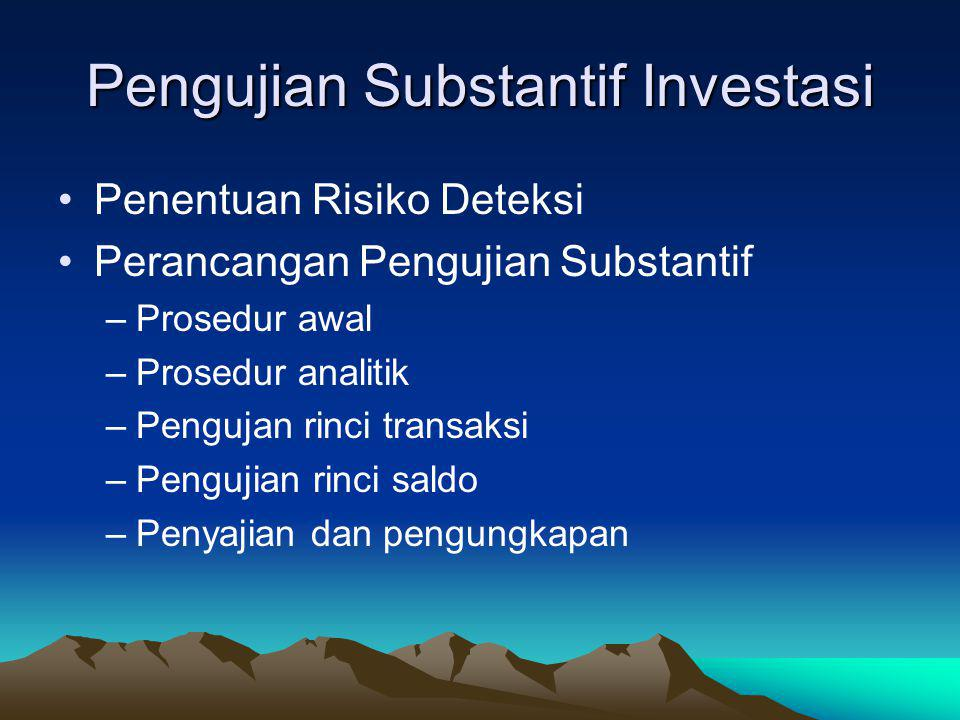 Pengujian Substantif Investasi