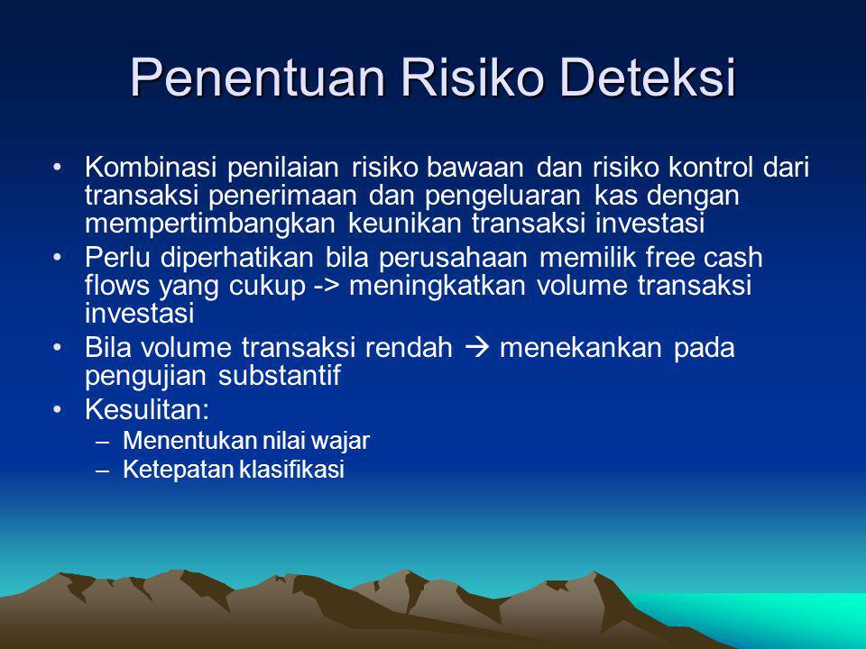 Penentuan Risiko Deteksi