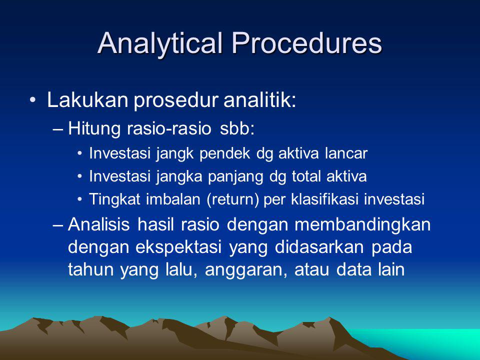 Analytical Procedures