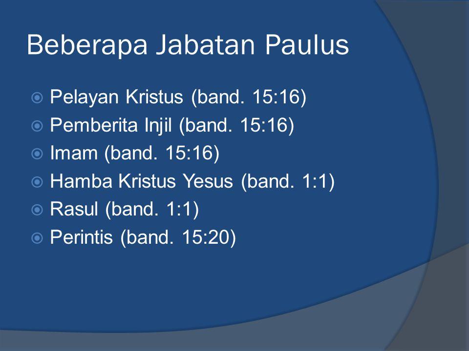 Beberapa Jabatan Paulus