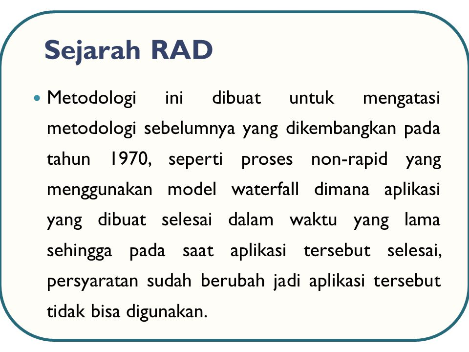 Sejarah RAD