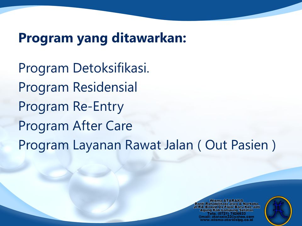 Program yang ditawarkan: