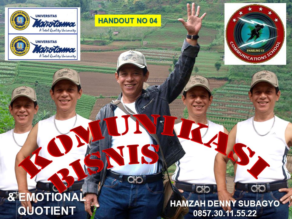 & EMOTIONAL QUOTIENT HAMZAH DENNY SUBAGYO 0857.30.11.55.22