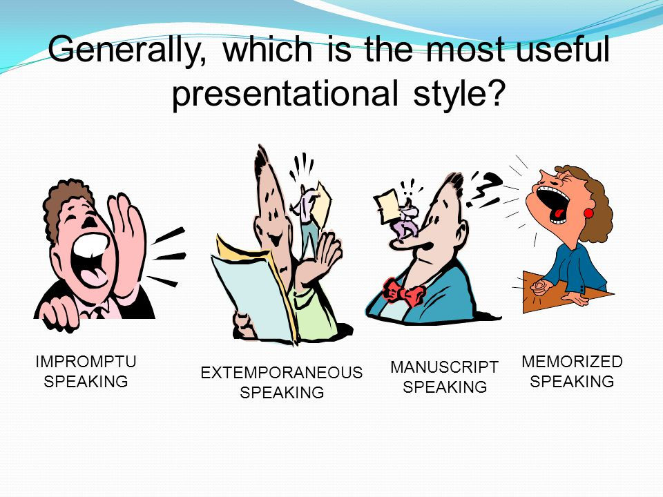 Generally, which is the most useful presentational style