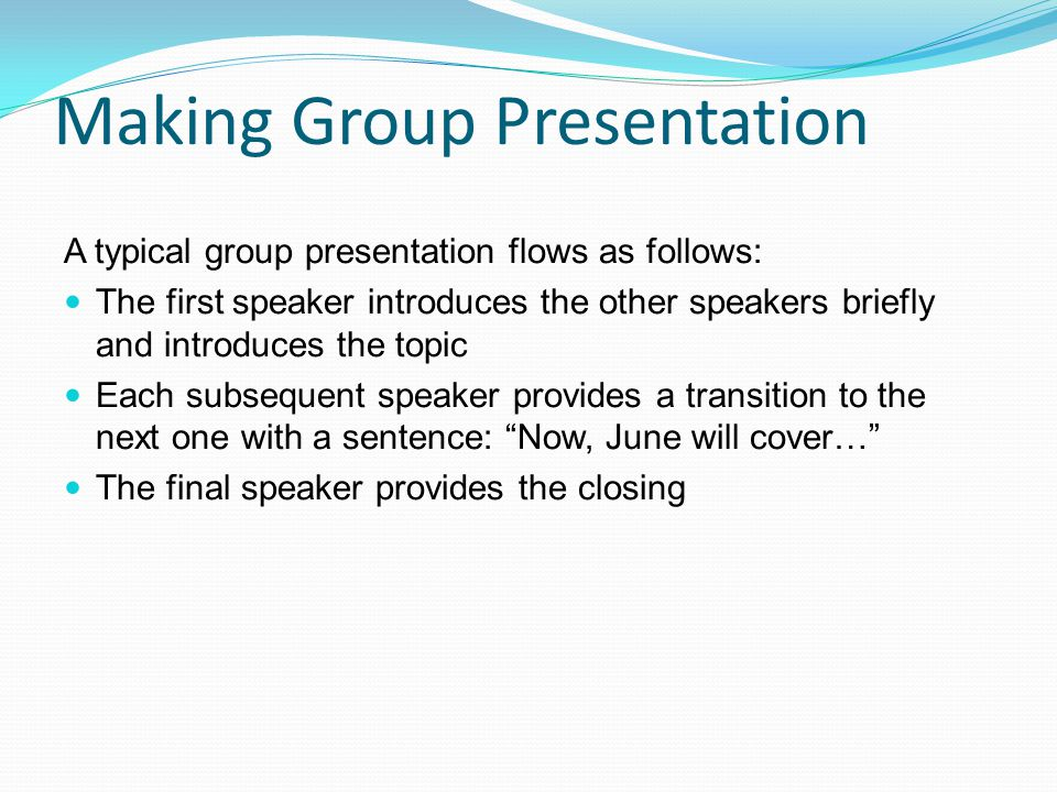 Making Group Presentation