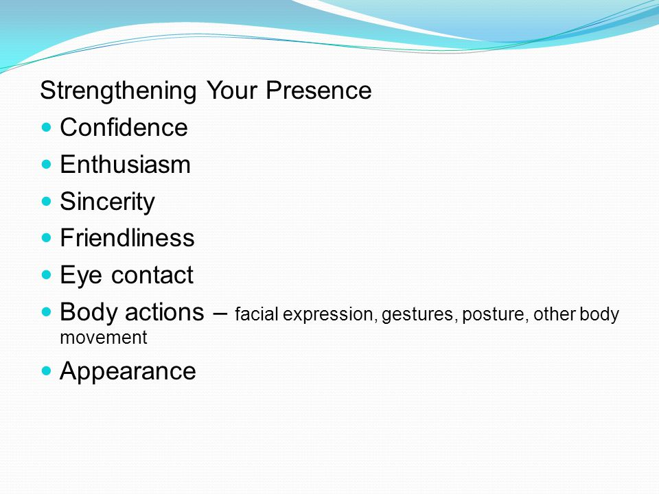 Strengthening Your Presence