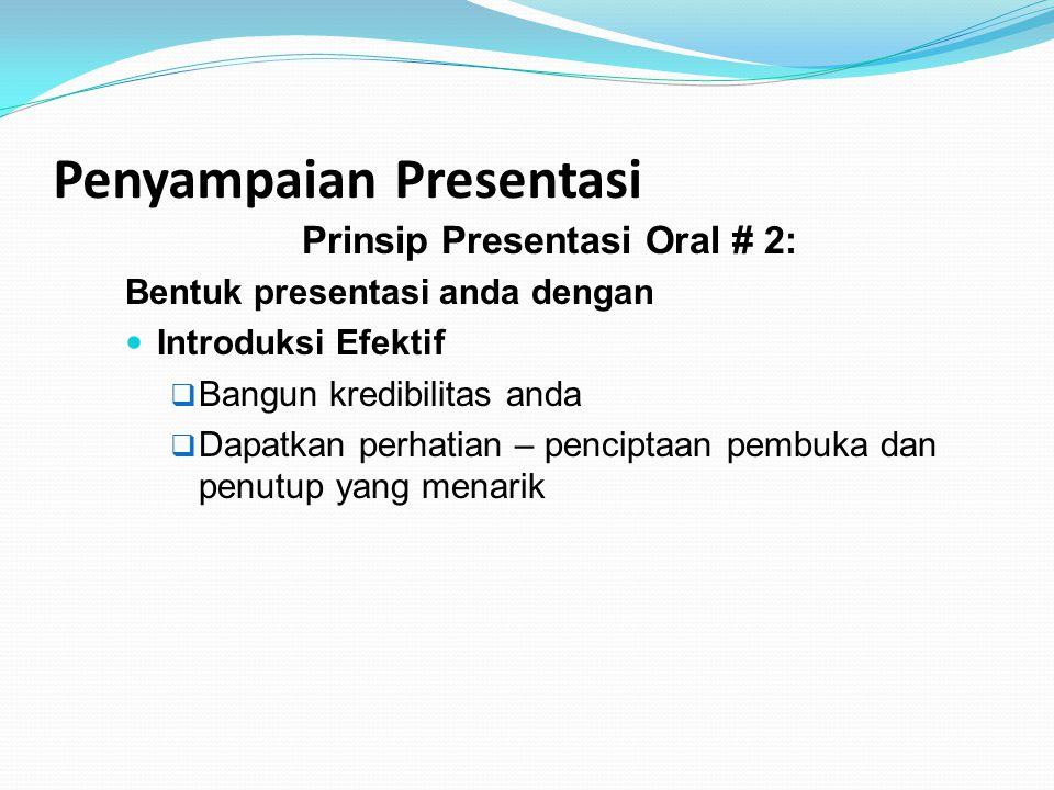 Penyampaian Presentasi