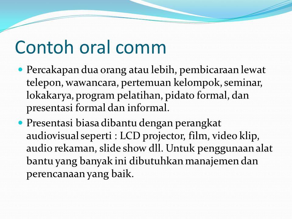 Contoh oral comm