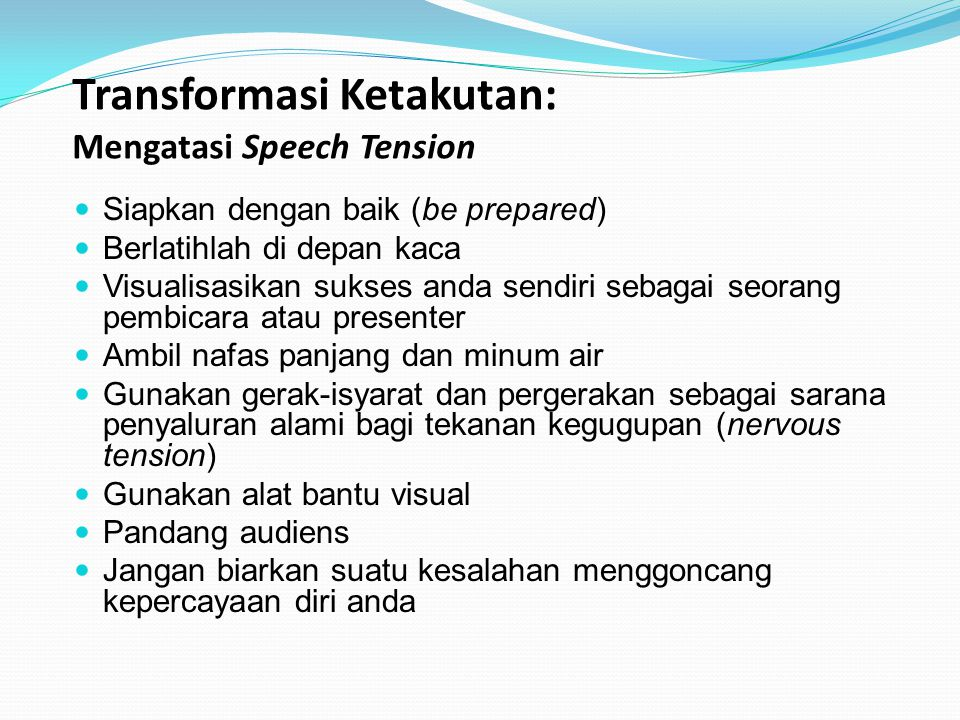 Transformasi Ketakutan: Mengatasi Speech Tension