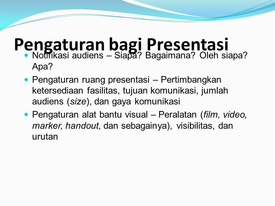 Pengaturan bagi Presentasi