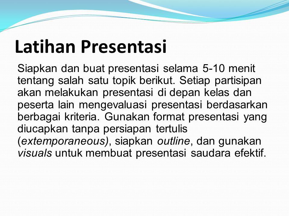 Latihan Presentasi