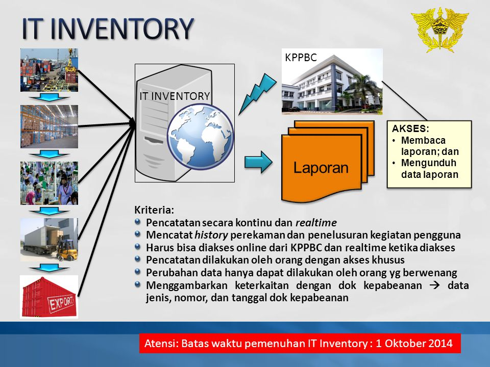 IT INVENTORY Laporan KPPBC IT INVENTORY