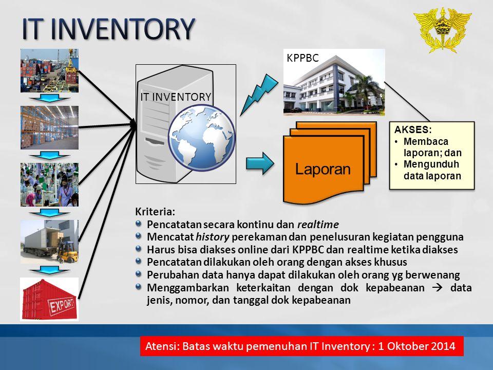IT INVENTORY Laporan KPPBC IT INVENTORY