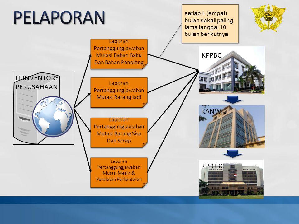 PELAPORAN KPPBC IT INVENTORY PERUSAHAAN KANWIL KPDJBC