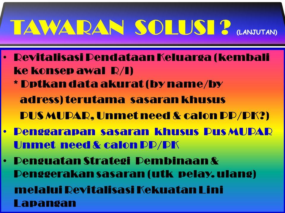 TAWARAN SOLUSI (LANJUTAN)