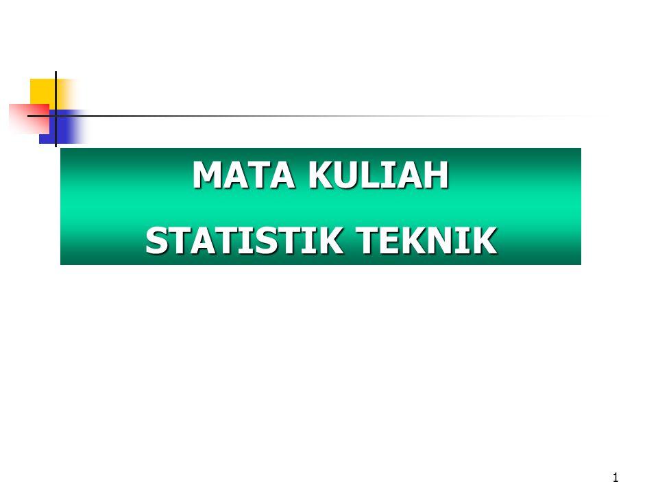 MATA KULIAH STATISTIK TEKNIK