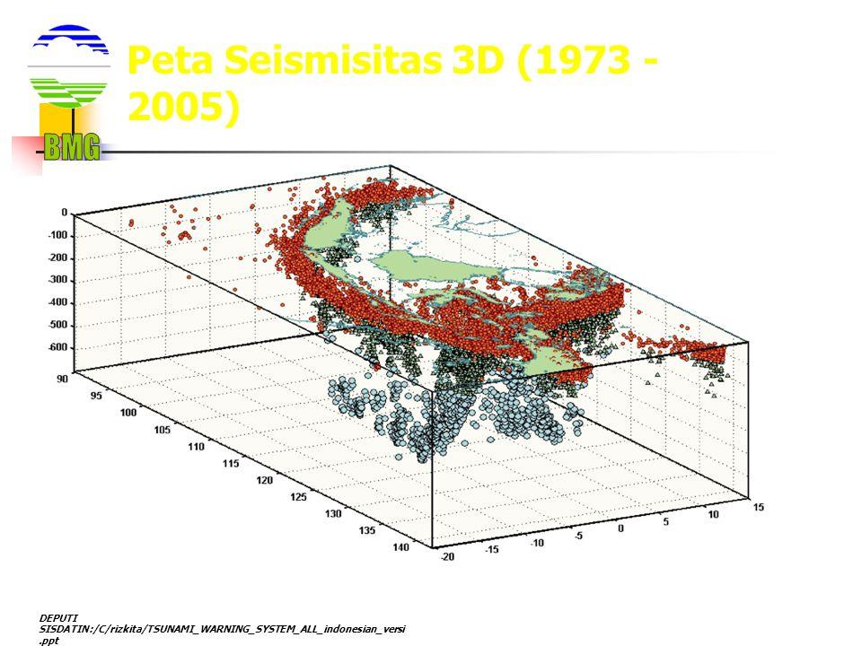 BMG Peta Seismisitas 3D (1973 - 2005)