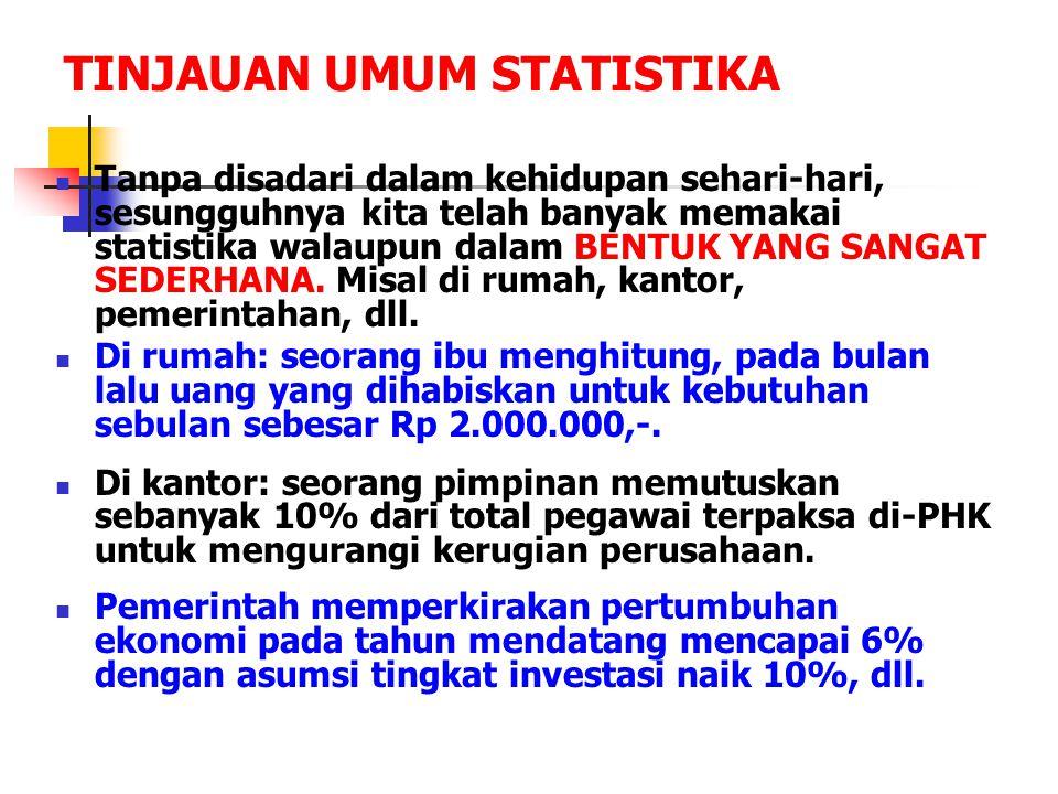 TINJAUAN UMUM STATISTIKA