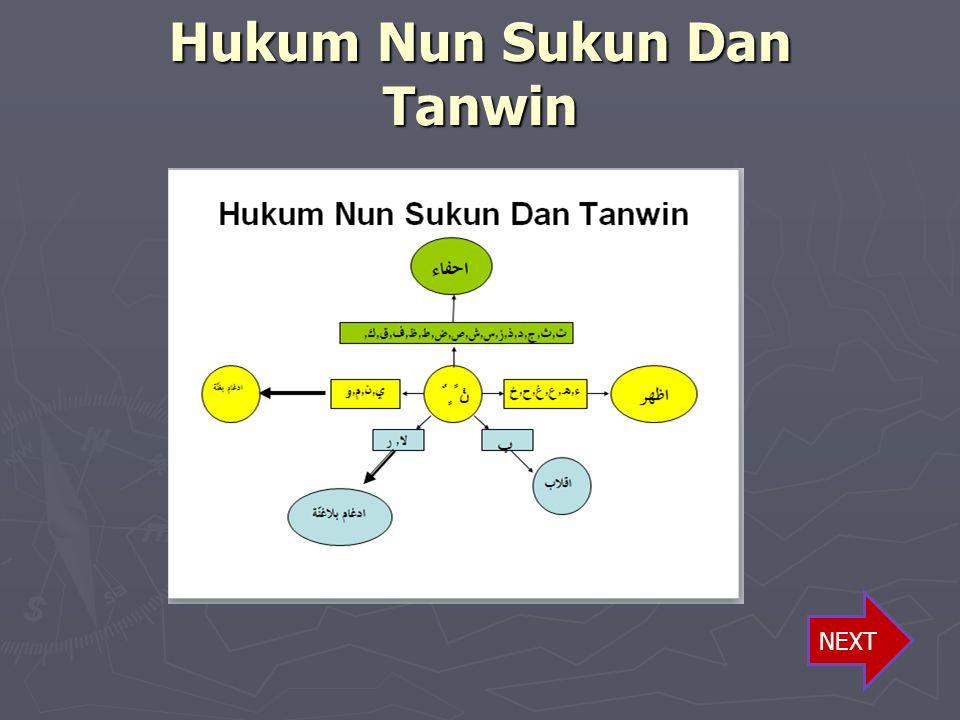 Hukum Nun Sukun Dan Tanwin