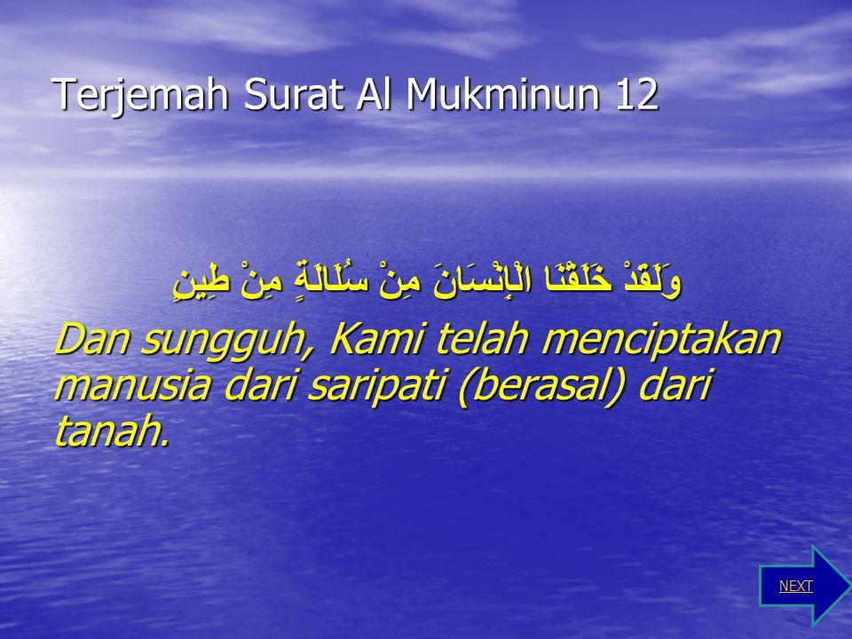 Terjemah Surat Al Mukminun 12