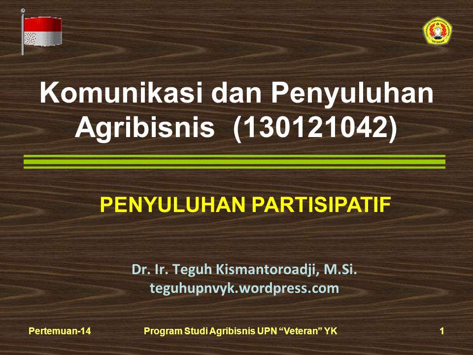 Komunikasi dan Penyuluhan Agribisnis (130121042)