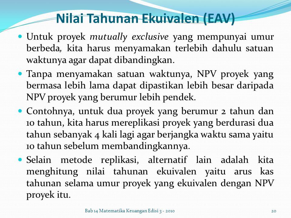 Nilai Tahunan Ekuivalen (EAV)