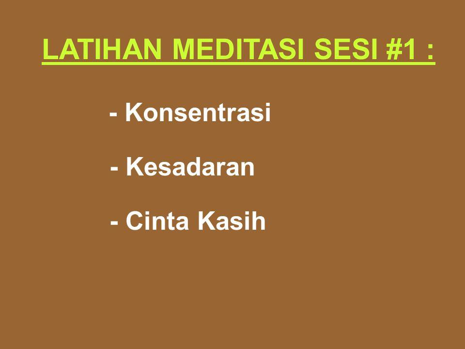 LATIHAN MEDITASI SESI #1 :