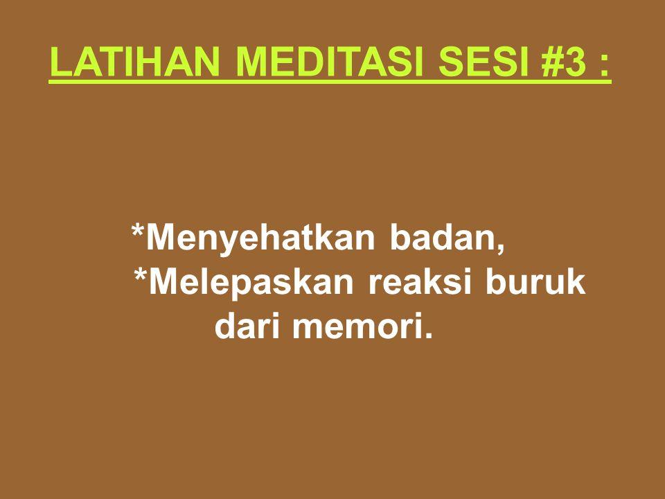 LATIHAN MEDITASI SESI #3 :