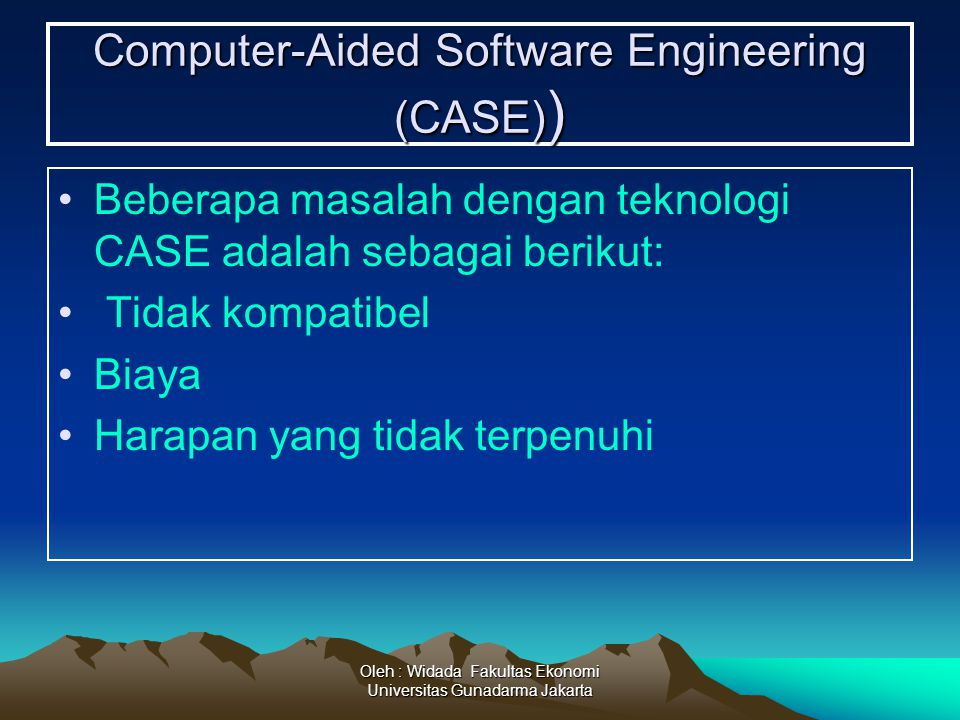 Computer-Aided Software Engineering (CASE))