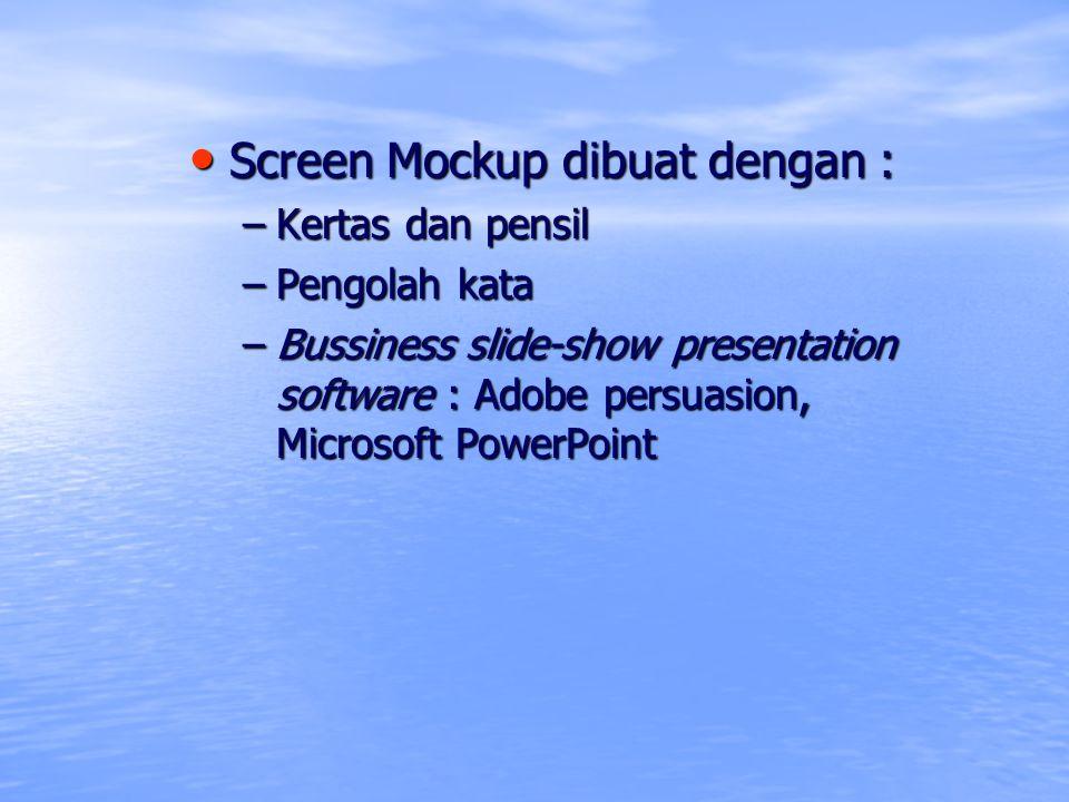 Screen Mockup dibuat dengan :