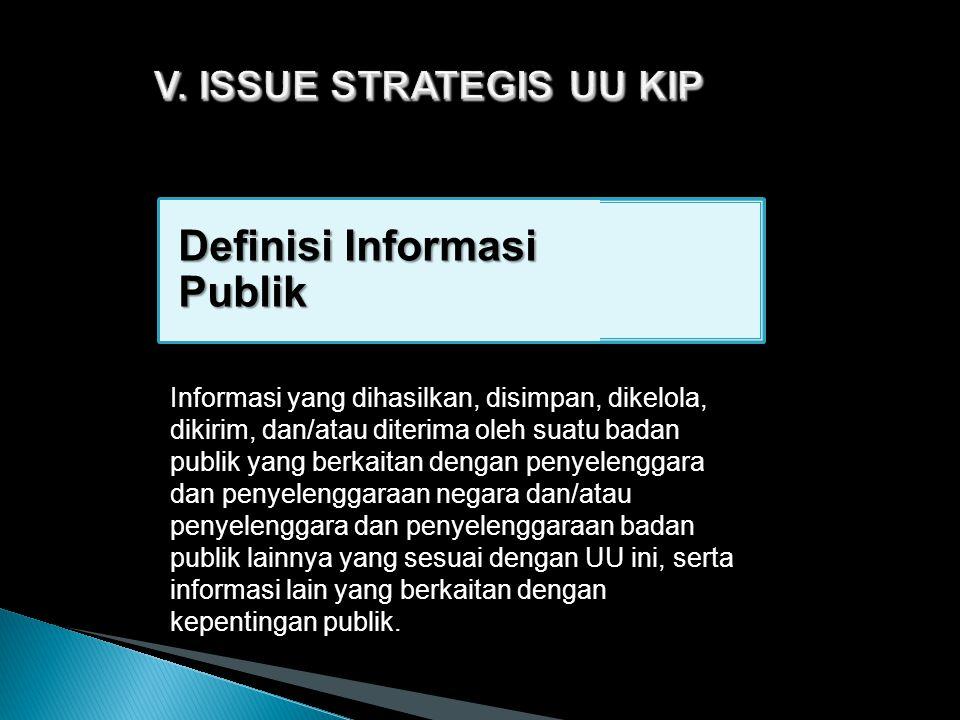 V. ISSUE STRATEGIS UU KIP