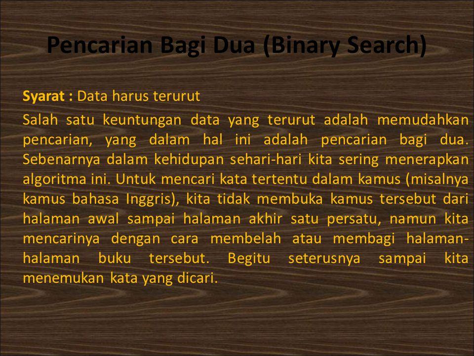 Pencarian Bagi Dua (Binary Search)