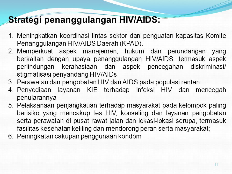 Strategi penanggulangan HIV/AIDS: