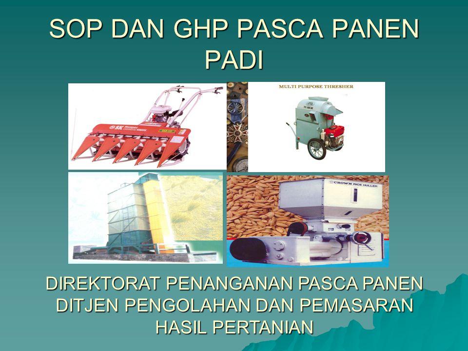 SOP DAN GHP PASCA PANEN PADI